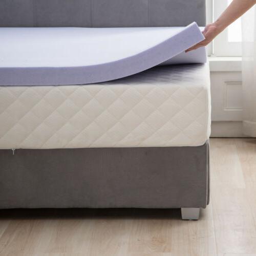 2''/3''/4'' Full Queen King Comfort Gel Memory Foam Mattress Cover Topper
