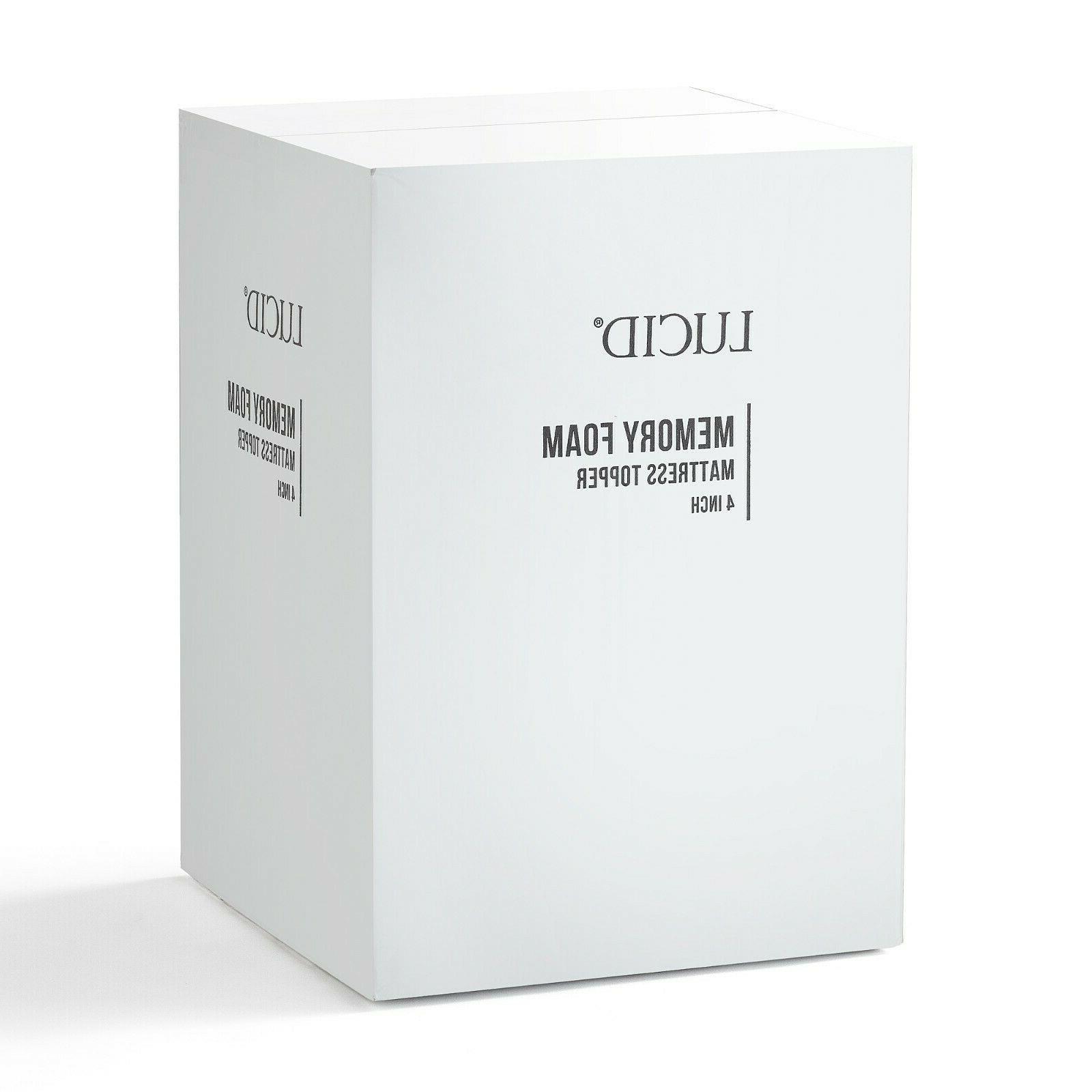 LUCID 2, 4 inch Ventilated Foam Mattress Topper Twin Full Queen