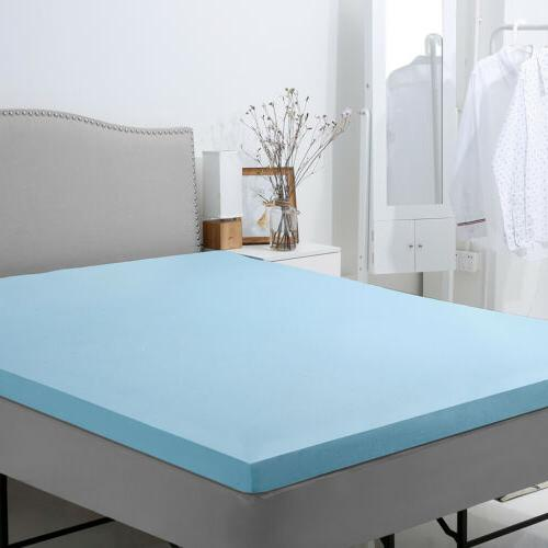 """2"""" Gel-Infused Memory Foam with Bamboo Queen Twin"""