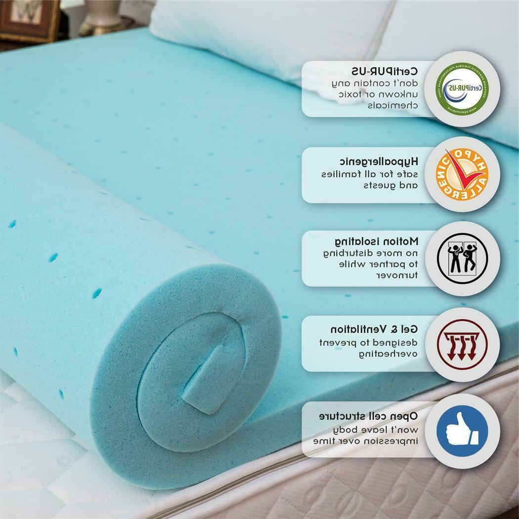 "2"" / 3"" Twin Full Queen King Comfort Gel Memory Foam Mattres"