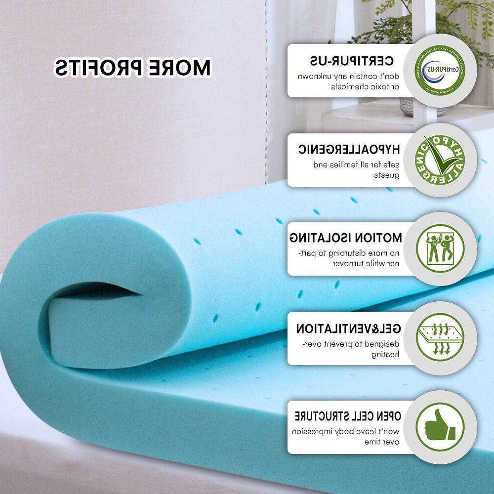 2.5''/3'' King Size Memory Foam Blue