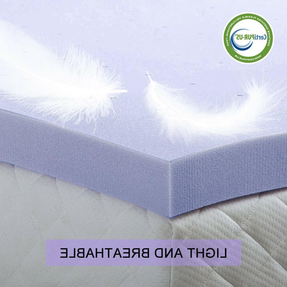 2 4 Inch Blue Memory Mattress Twin