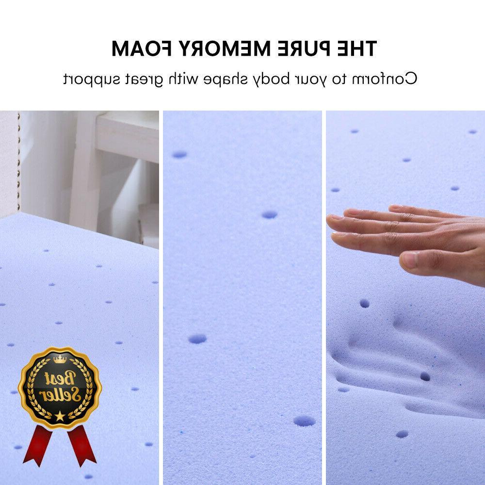 2.5''/3'' King Foam Mattress Topper Blue Lavender