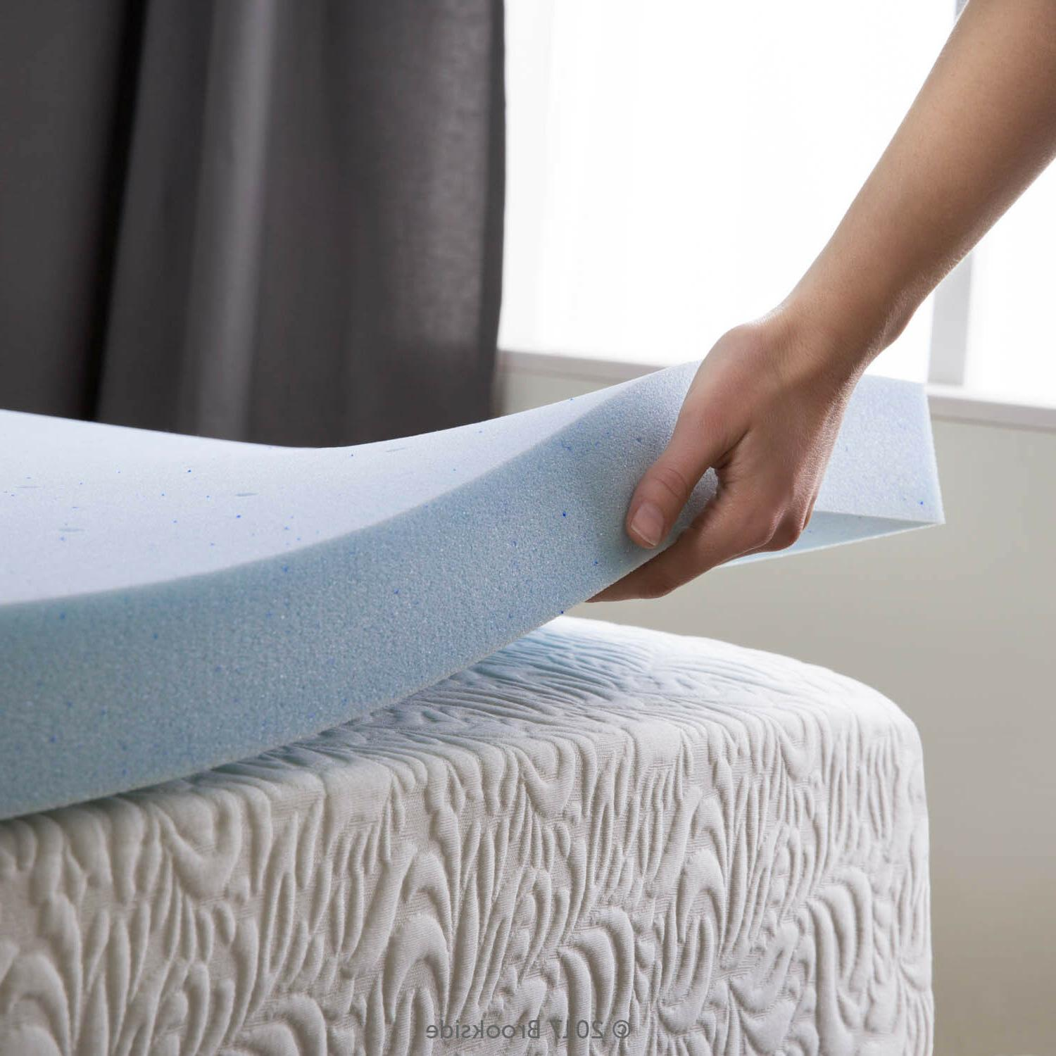 2.5 Inch Cooling Gel Memory Foam Mattress Topper - Twin Full