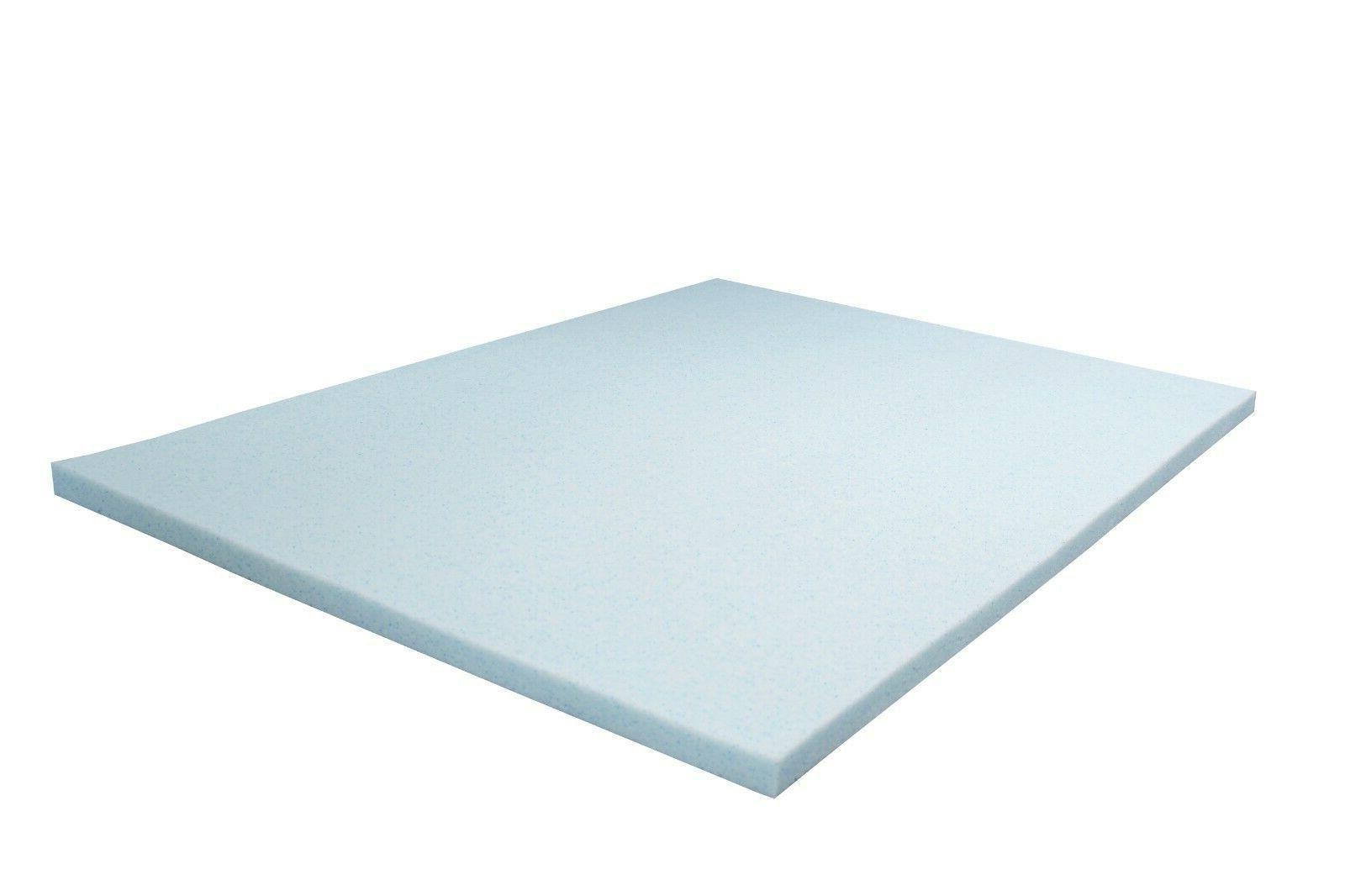 2 gel memory foam mattress topper queen