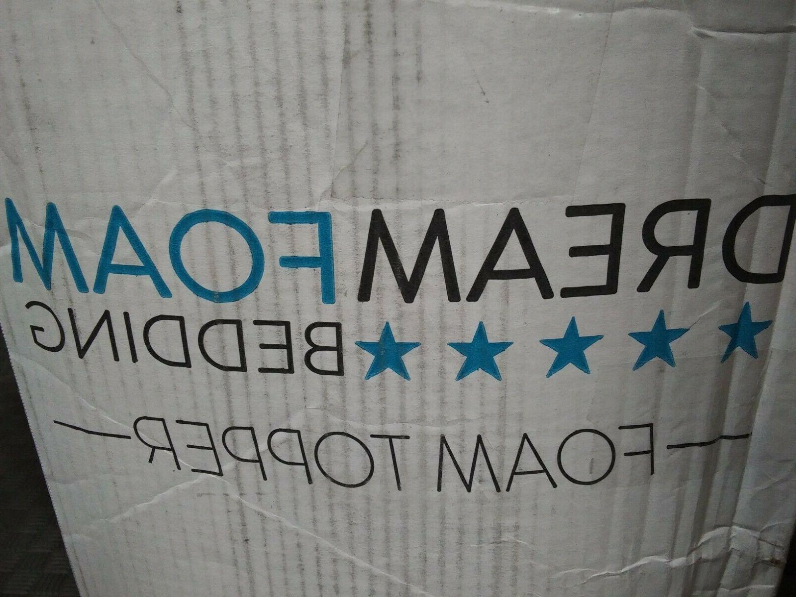 DreamFoam 2 Gel Swirl Memory Foam Topper, Made in USA, Queen