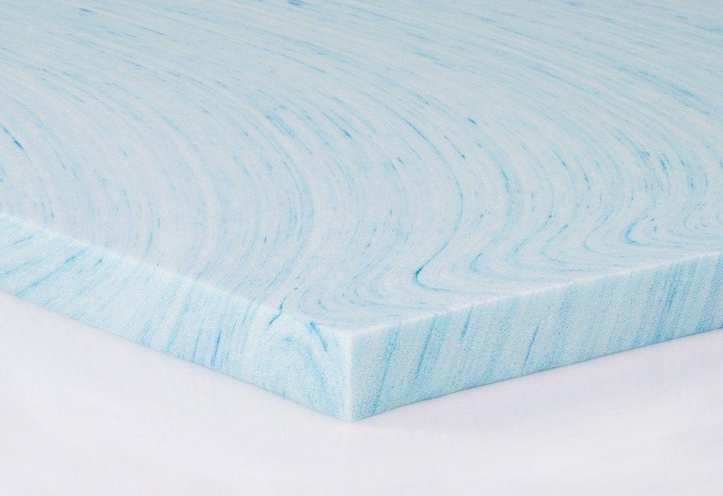 2 gel swirl memory foam