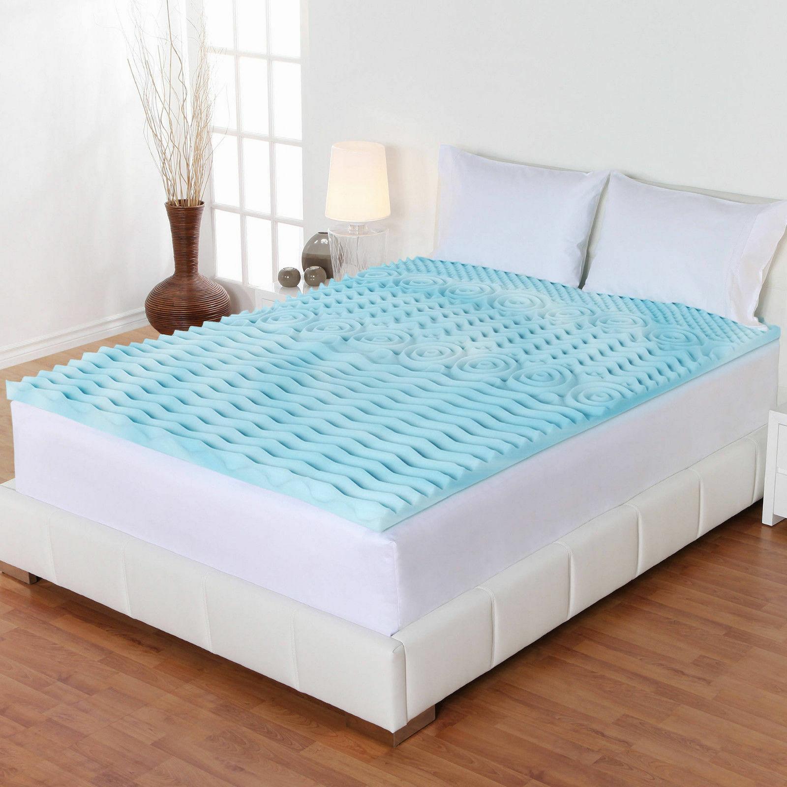 2 Inch Cooling Gel Foam Mattress Pad Bed Orthopedic
