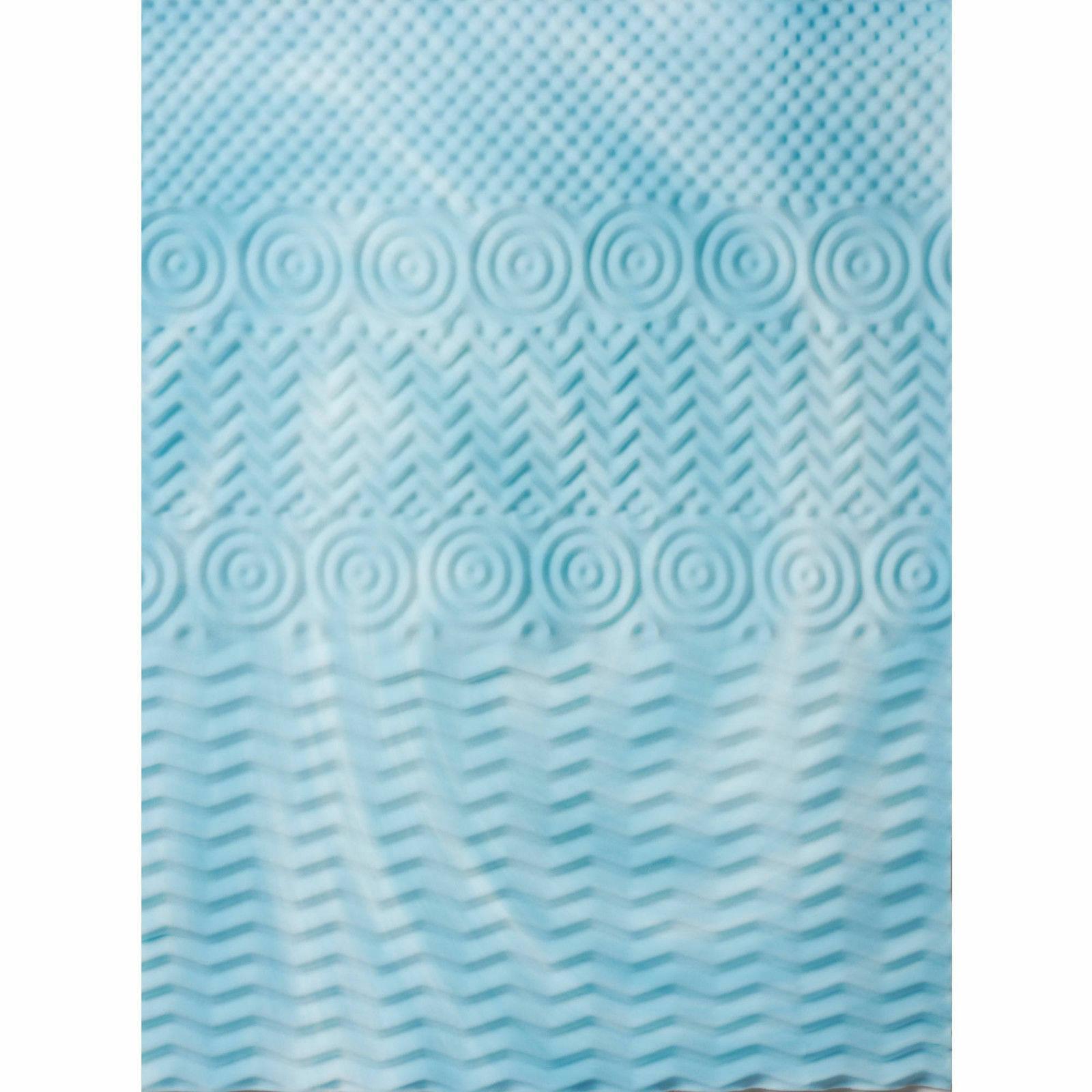 2 Inch Cooling Gel Foam Mattress Bed Cushion Zone Orthopedic