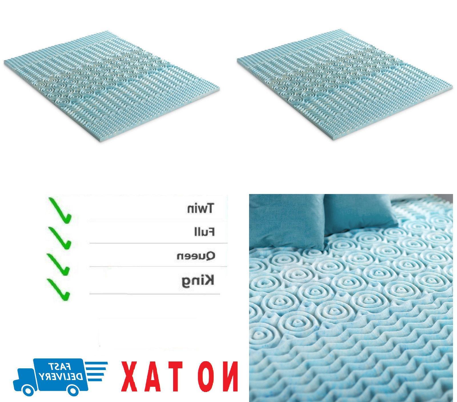 2 inch cooling gel memory foam mattress