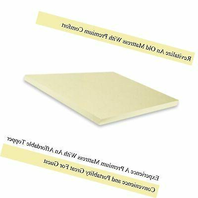 Continental Density Foam Topper,Adds to Mattress,