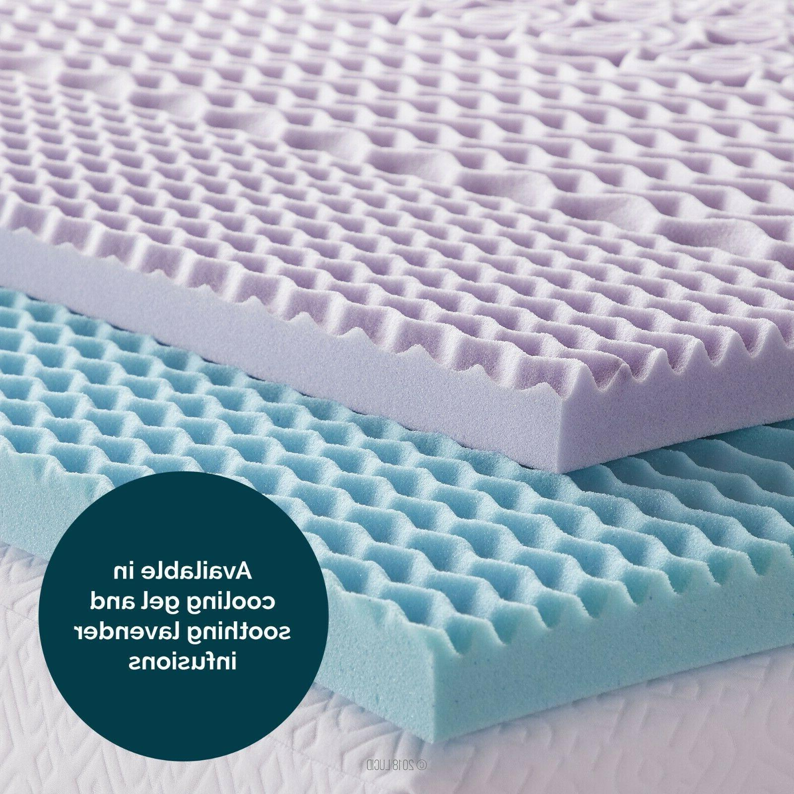 LUCID 5 Zone Gel or Lavender Memory Foam Topper