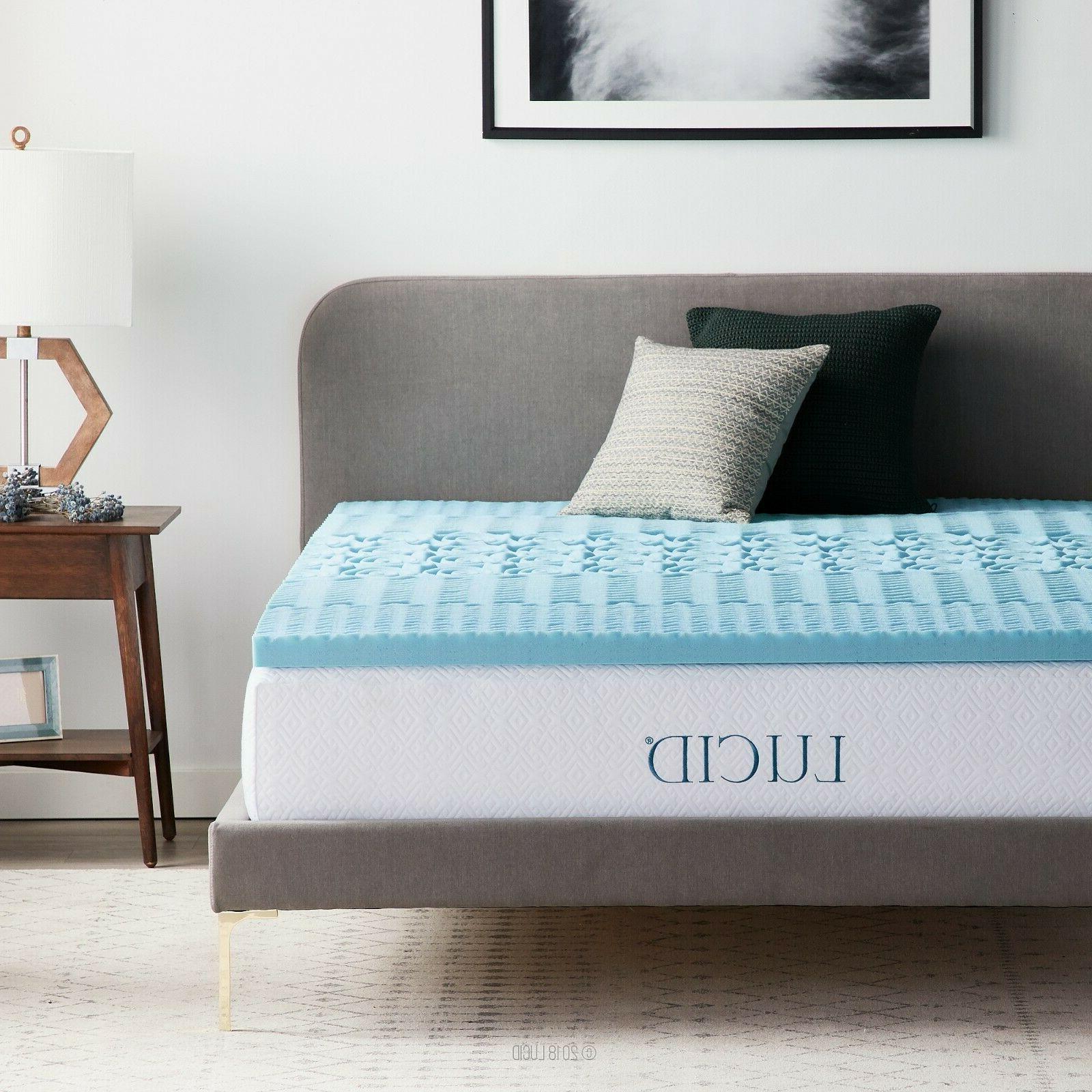 2 inch lavender scented memory foam mattress