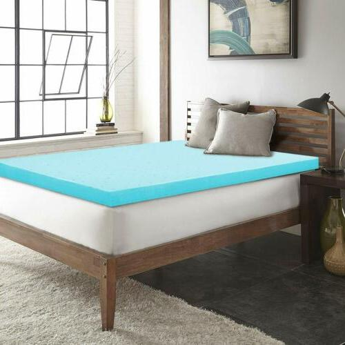 2 Mattress Comfort Bed Cooling Gel-Infused QUEEN