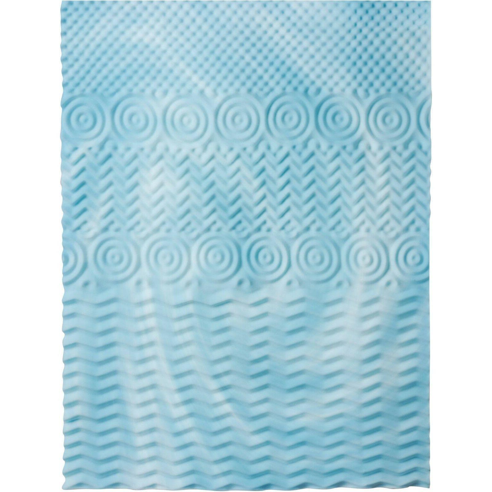 Authentic 2-Inch 5-Zone Foam Twin Mattress Topper