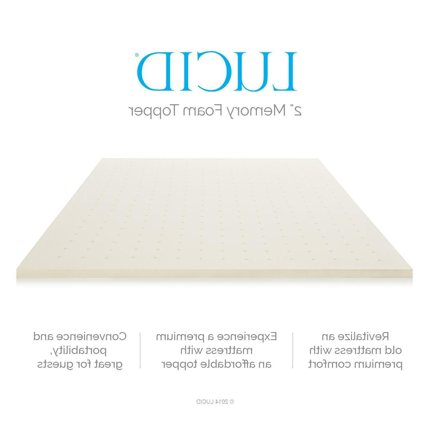 LUCID inch Memory Mattress - King