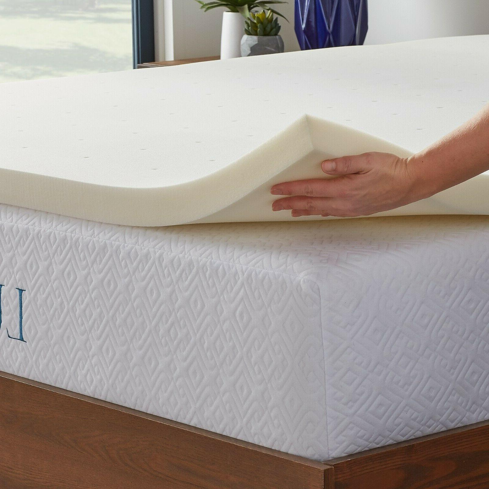 LUCID 2 Inch Traditional Ventilated Foam Topper - Breathable