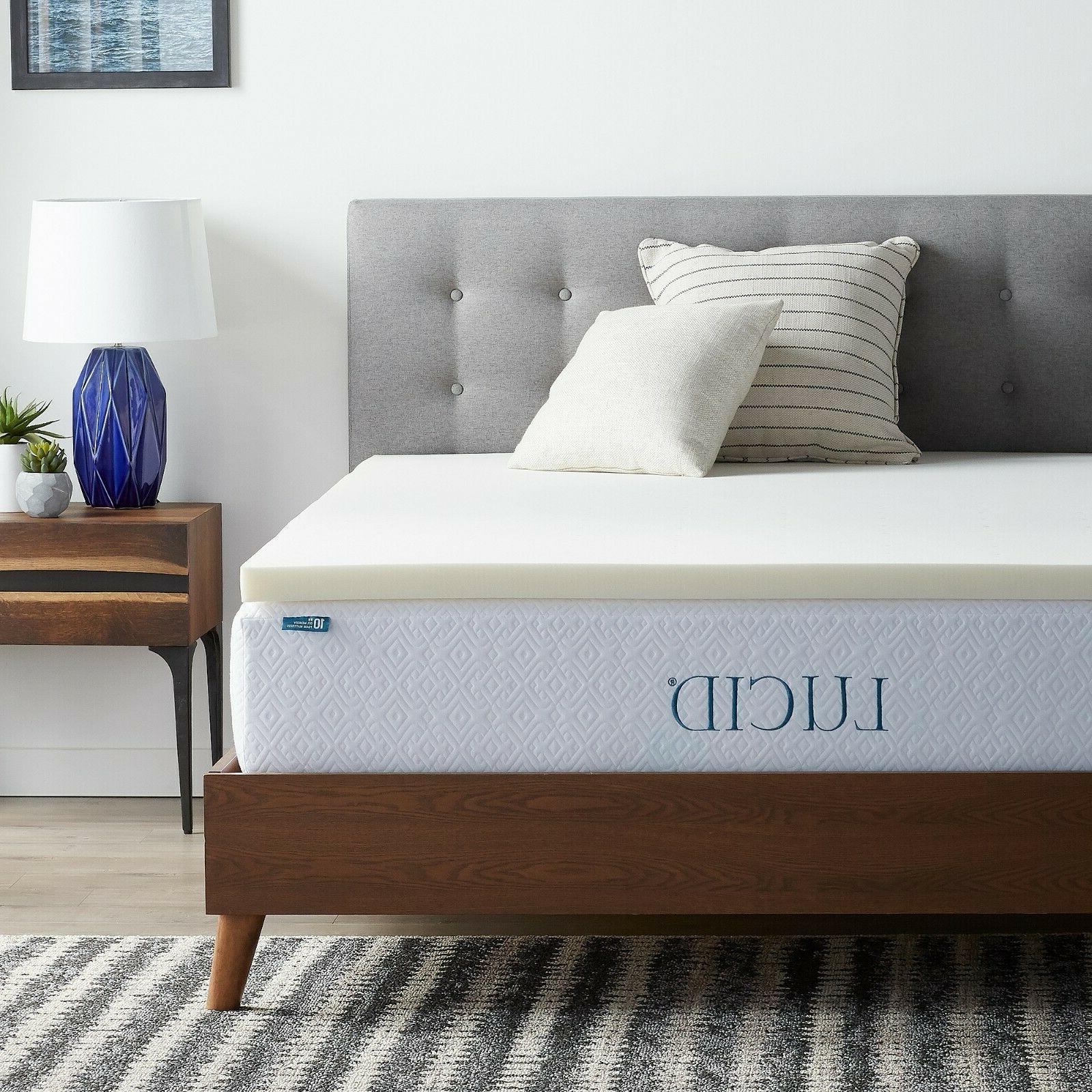 2 inch traditional ventilated foam mattress topper