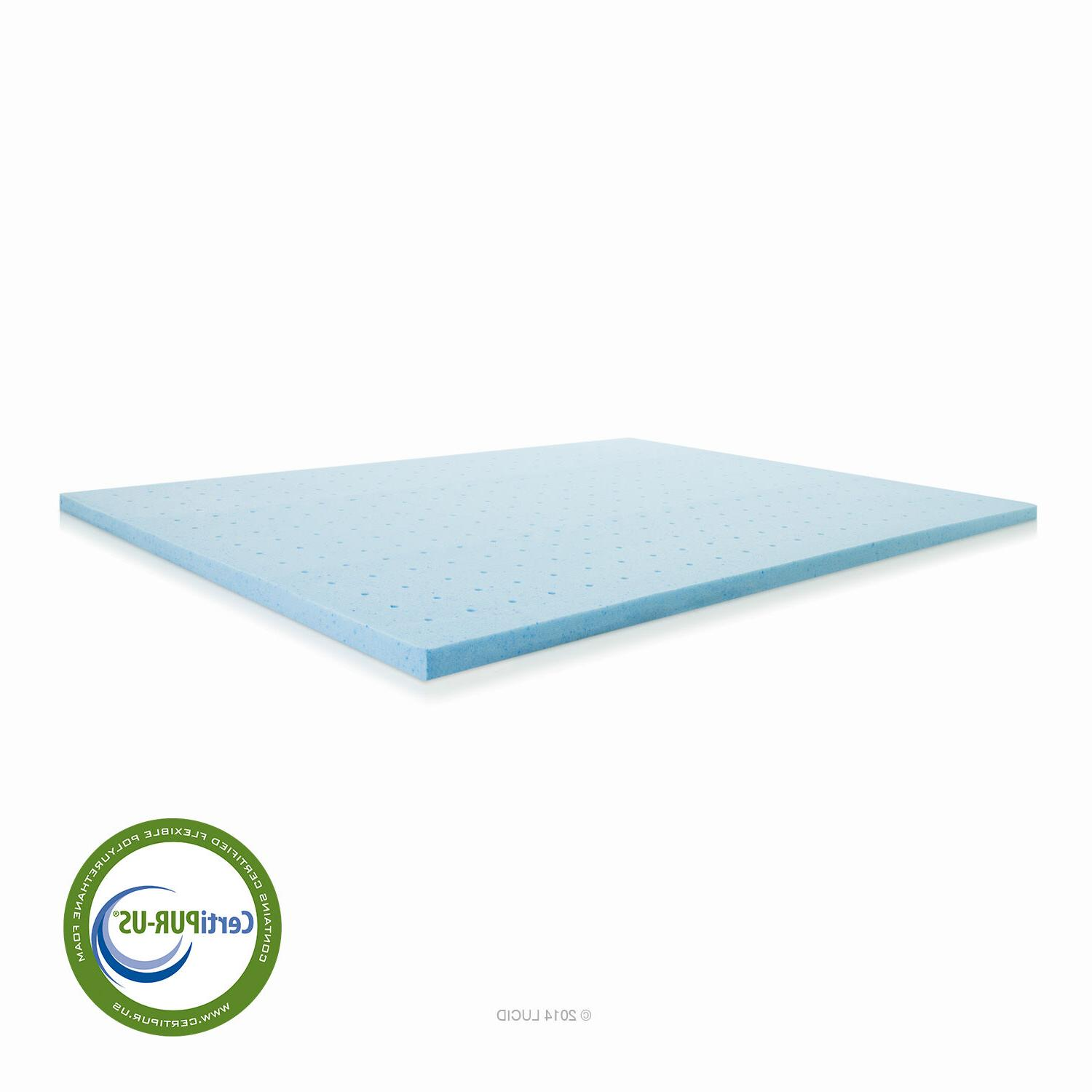 LUCID Gel Foam Mattress Topper New Damaged Package