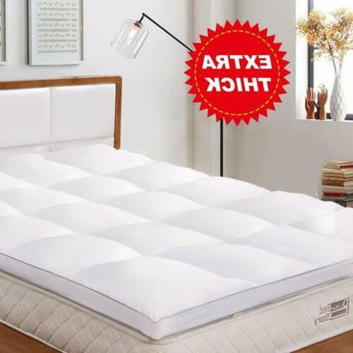 BedStory Mattress 2'' Topper Hypoallergenic Fiber Pad Cover