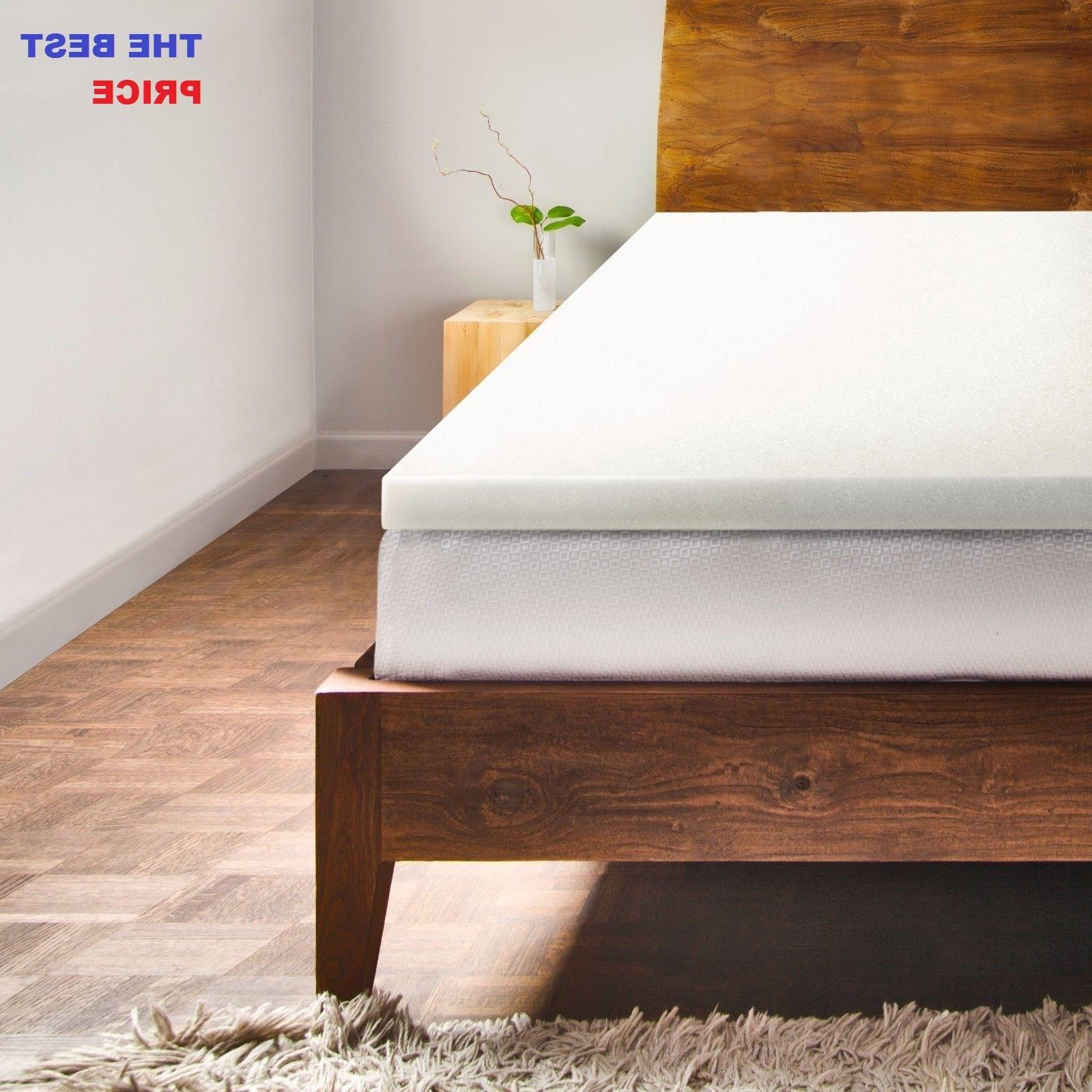 2 memory foam mattress topper and bed