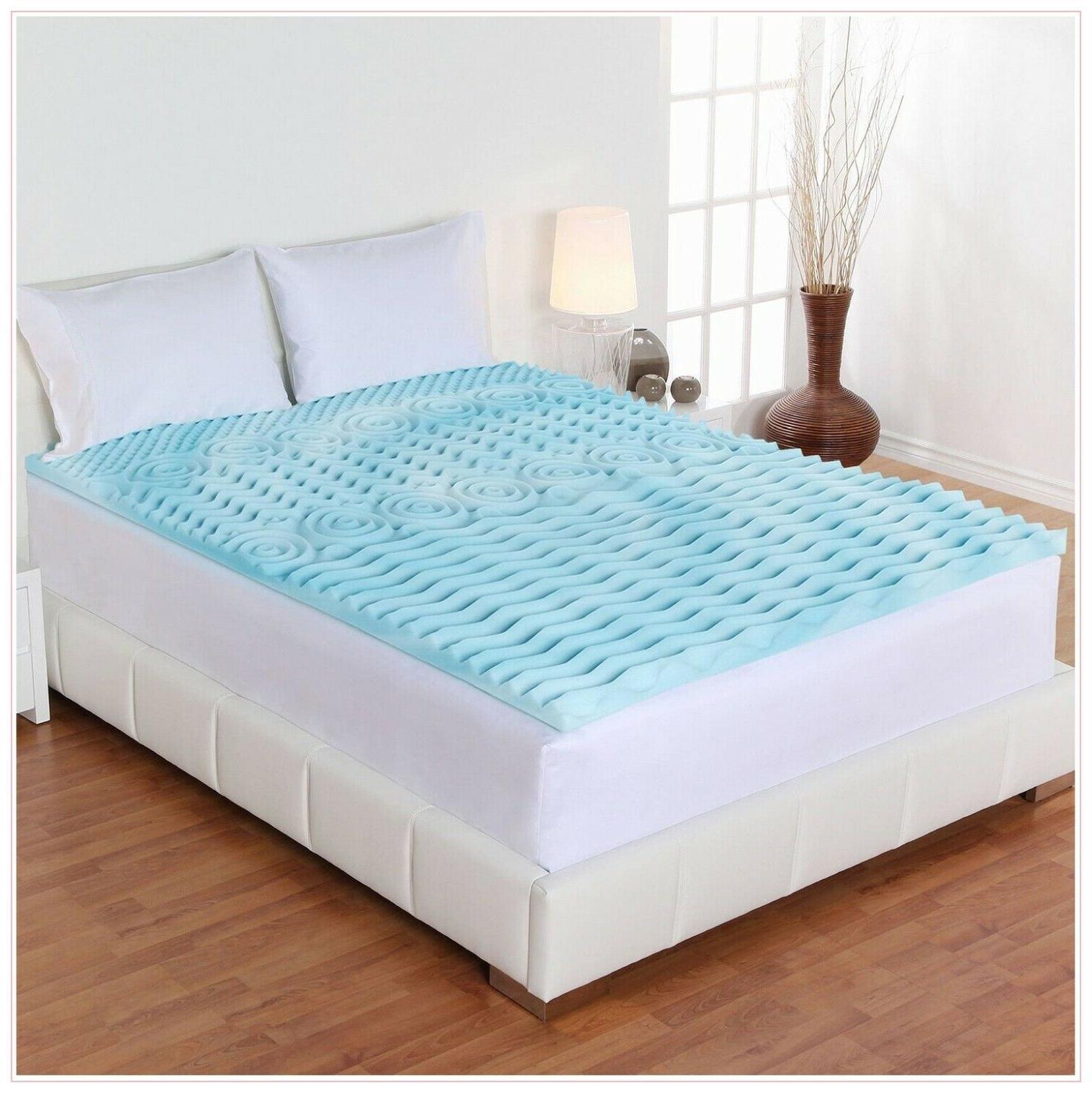 Orthopedic Bed Pad Zone Comfort Inch Foam Mattress Cover