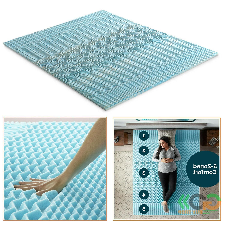 Orthopedic Bed Pad 5 Zone Authentic Comfort 2 Inch Foam Matt