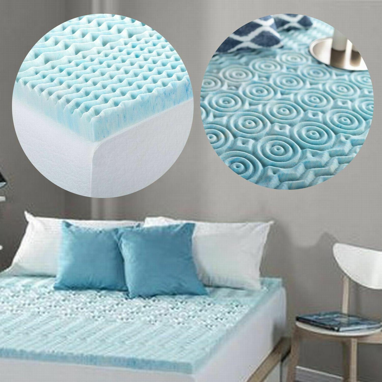 Orthopedic Bed Zone Inch Foam Mattress Topper Cover
