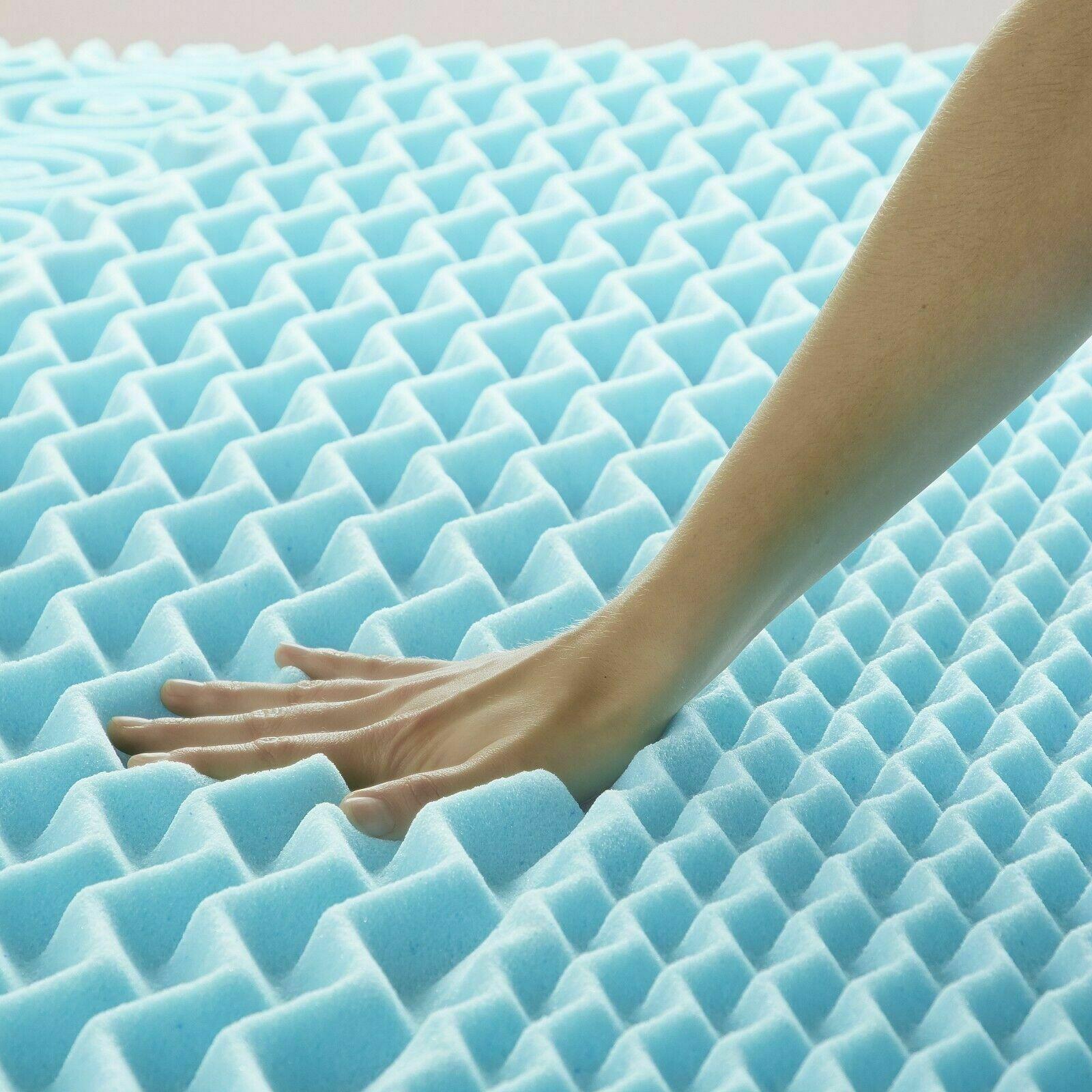 Orthopedic 5 Zone Authentic Comfort Inch Foam Mattress Topper Cover