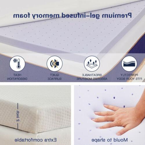 BedStory Topper Mattress QUEEN-size Belt