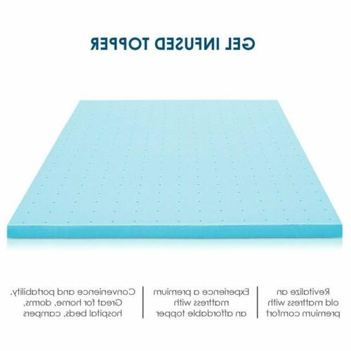2, 4 Inch Cooling Gel Foam Mattress Topper - Twin Full King Size
