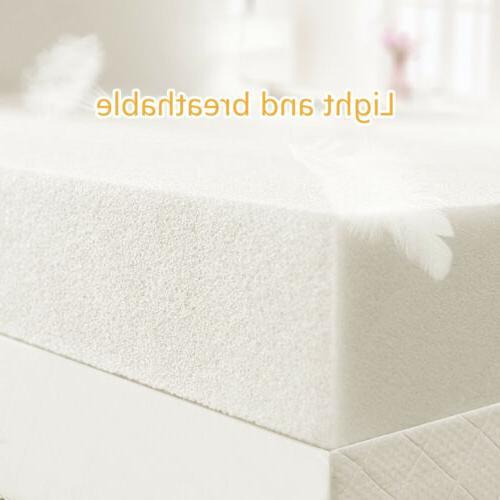"3"" King Gel Memory Foam Mattress Topper White"