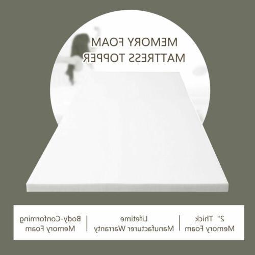 """3"""" King Size Gel Memory Topper Bedroom White"""