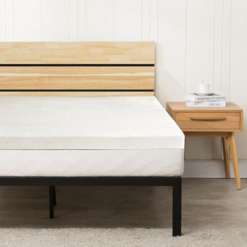 """3"""" King Size Comfort Gel Memory Foam Mattress Topper Bedroom"""
