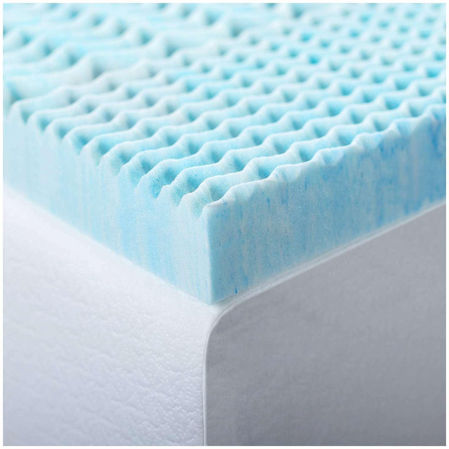 "3"" Full Size Memory Foam Mattress Topper Orthopedic"