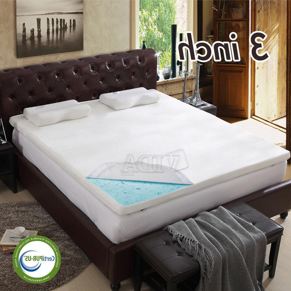 3 gel infused memory foam mattress topper