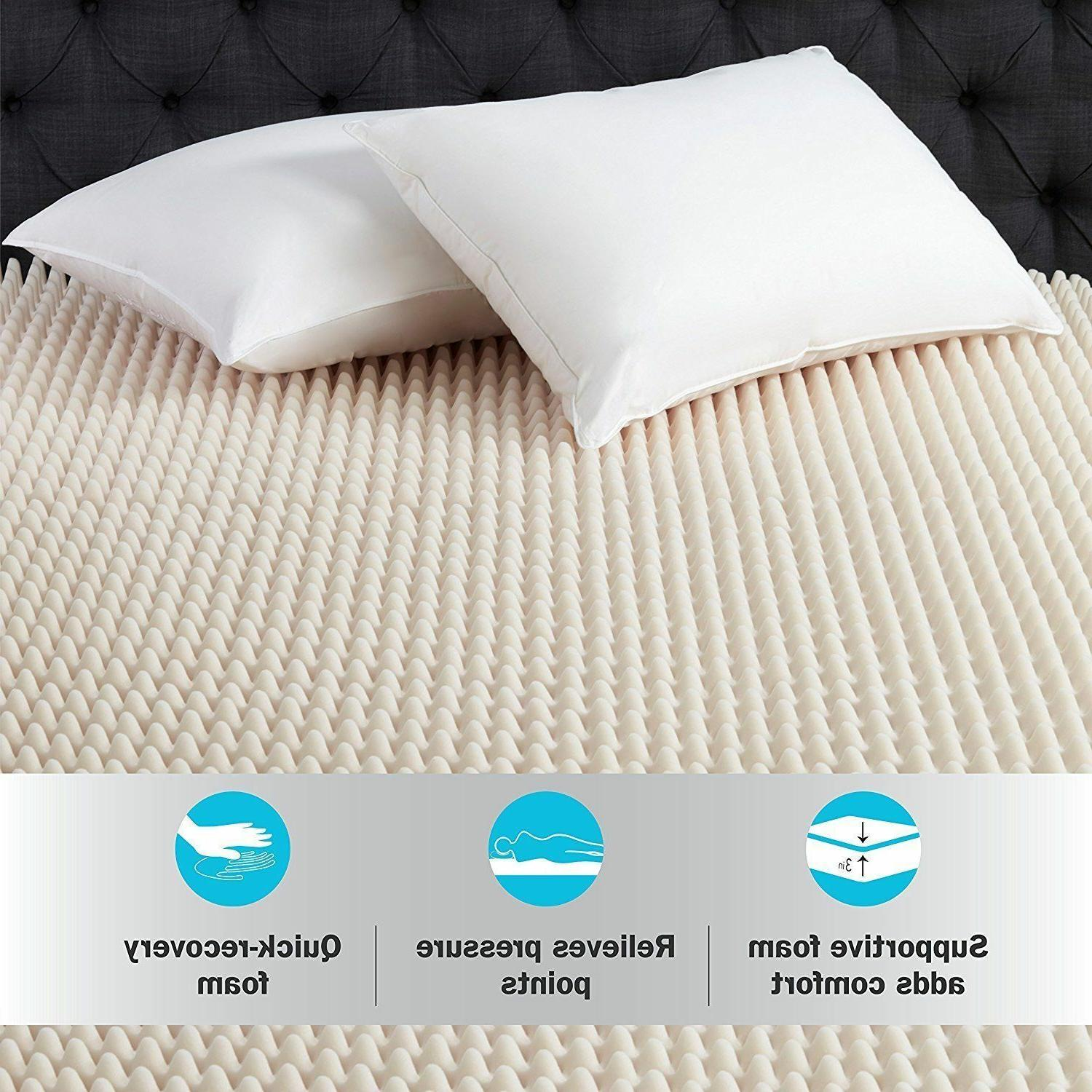 3 Mattress Topper Convoluted Bed Room
