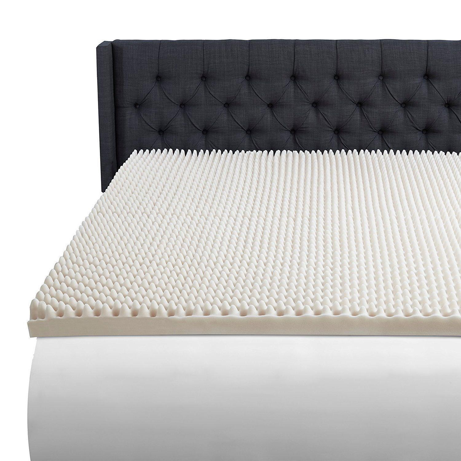 3 Luxury Mattress Topper Convoluted Bed Cover Room