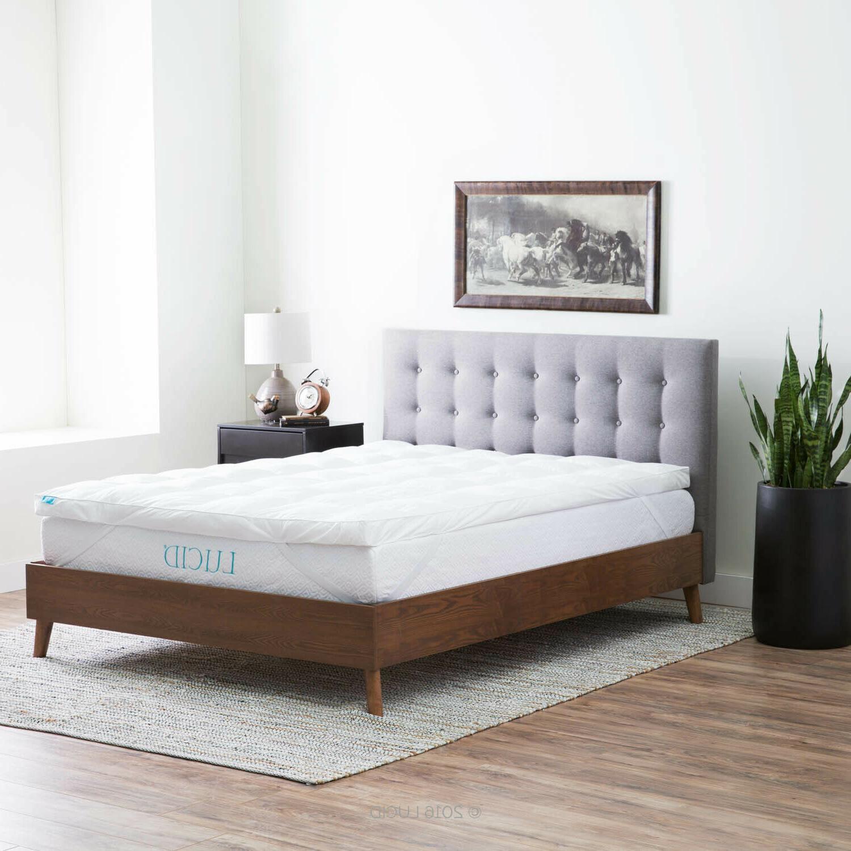 LUCID 3 Inch Alternative Fiber Bed Topper -
