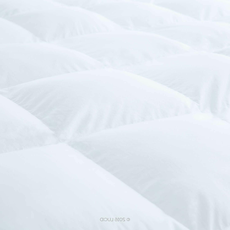 LUCID Alternative Fiber Bed Mattress Topper - Damaged