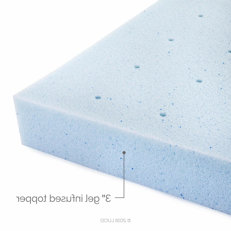 LUCID Inch Cooling Foam Mattress Full