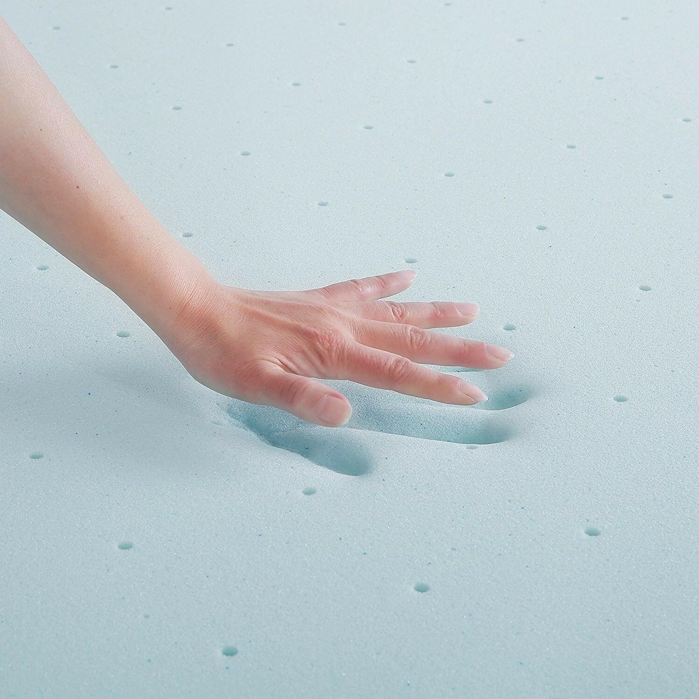 3 Inch Gel Memory Foam Mattress Size Gel-Infused Blue