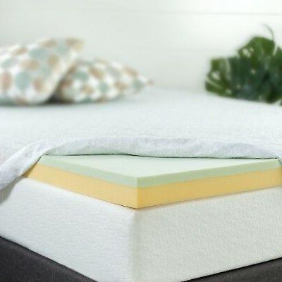 3 inch green tea memory foam mattress