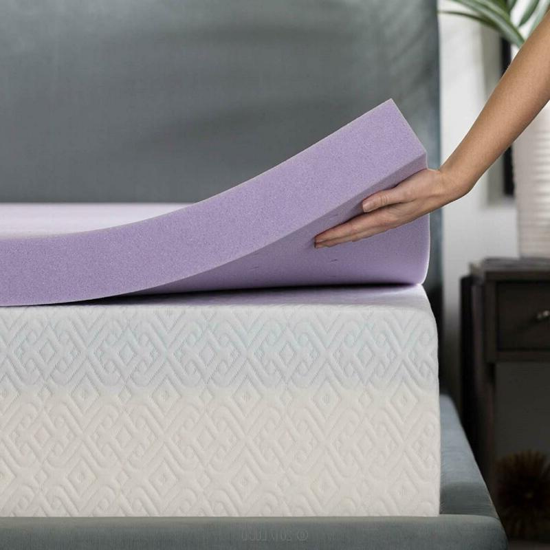LUCID Inch Lavender Infused Memory Foam Mattress Topper - -