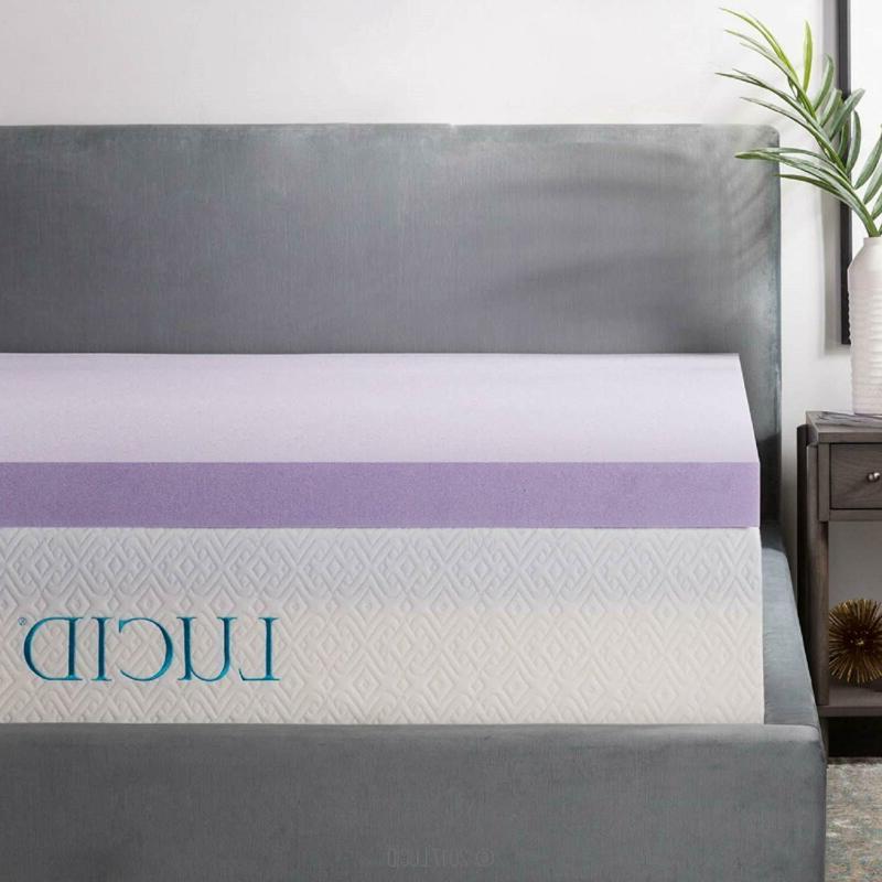 3 inch lavender infused memory foam mattress
