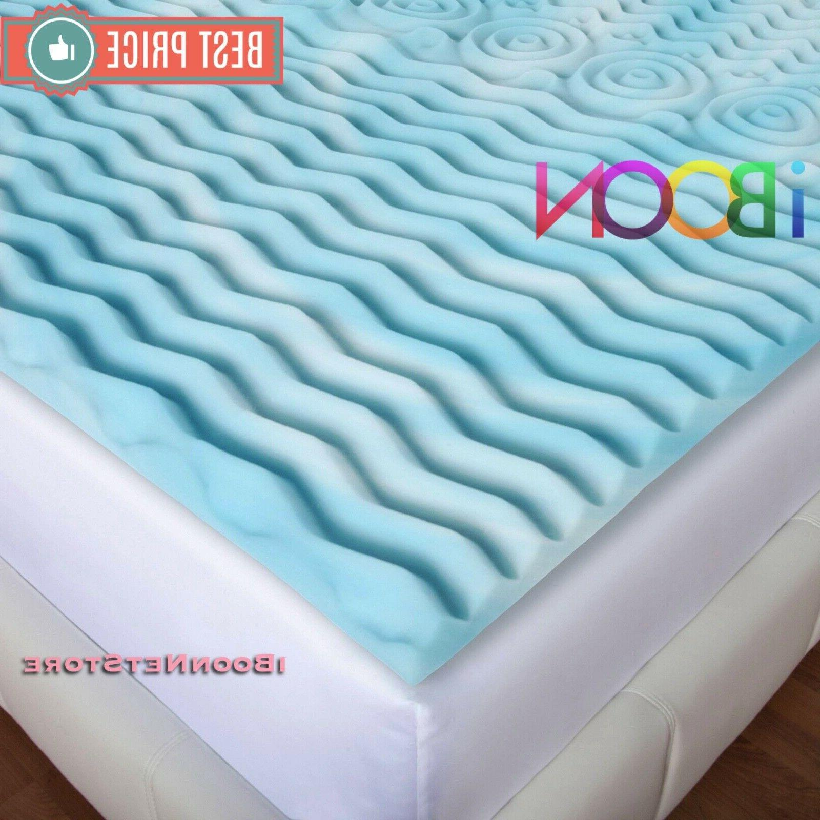3 INCH Memory Mattress Topper Size Gel Orthopedic Pad Cover Bedding