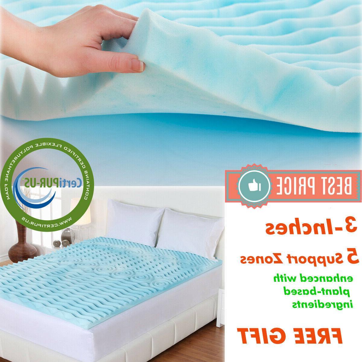 3 inch memory foam mattress topper queen