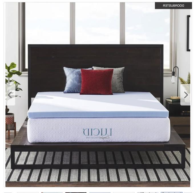 3 inch queen gel memory foam mattress