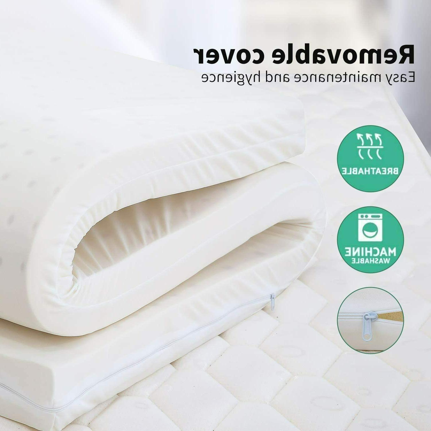 """3"""" 100% Natural Mattress Topper Great Non-Toxic Chemical Free Green~"""