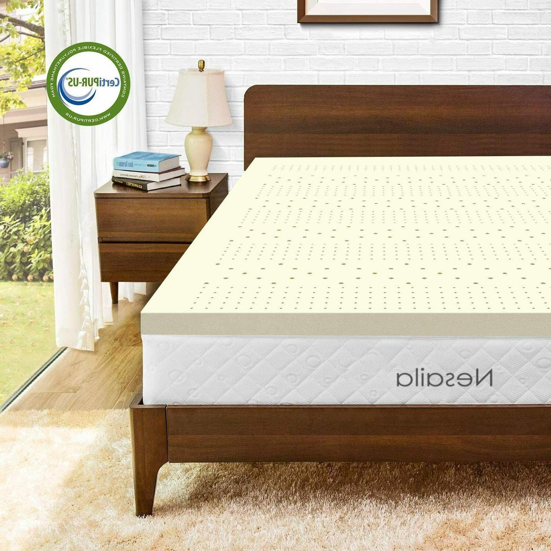 3 100 percent natural latex mattress topper